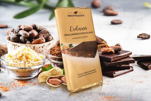 Wachtelei Erdnuss Schokolade Wachtel Milchschokolade