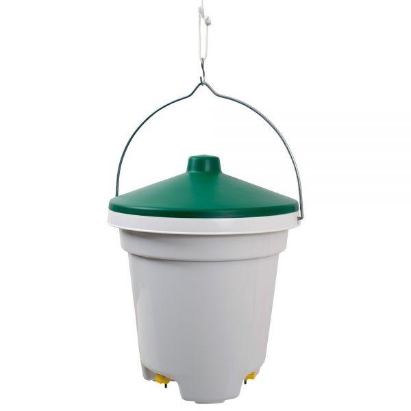 Tränkeneimer mit Nippeltränken 12 Liter