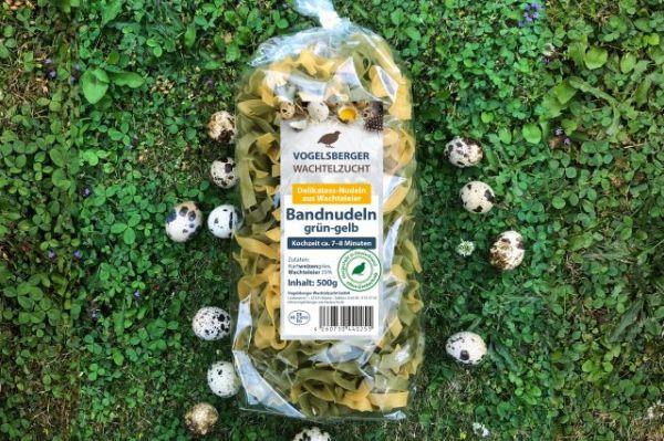 WachtelGlück® Bandnudel grün- gelb Wachteleinudeln
