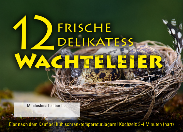 Wachteleier Eierschachteln aus Pappe 12er
