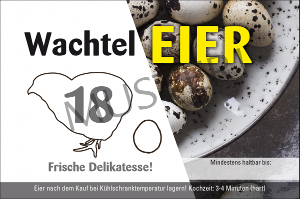 Rechteckige Etiketten 18er Eierschachtel Pappe, Motiv 3