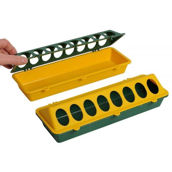 Kükentrog aus Kunststoff grün/gelb