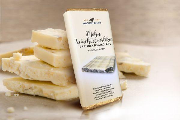 WachtelGlück® Schokolade Weiße Mohn