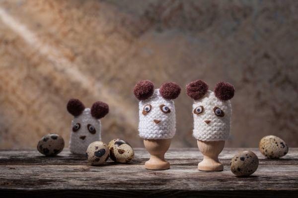 Wachteleiwärmer Panda 4er für Wachteleier