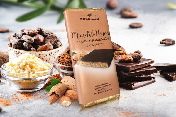 Wachtelei Schokolade Mandel-Nougat Wachtel Pralinen