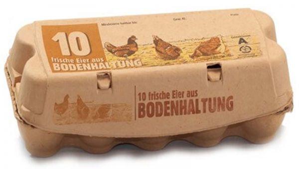 Eierverpackung für Hühnereier aus Bodenhaltung