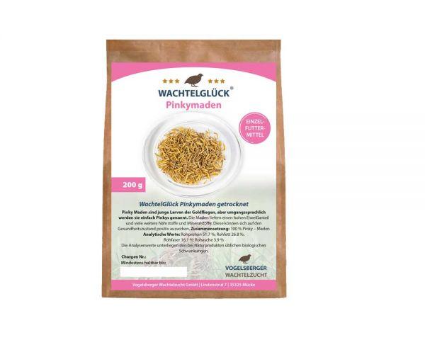 WachtelGlück® Pinkymaden 200 Gramm - getrocknet