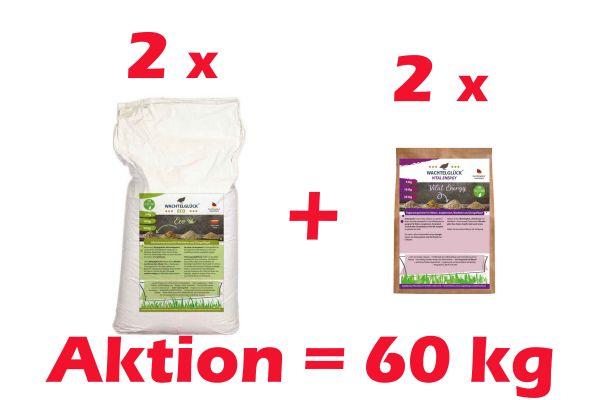 WachtelGlück Eco 50 Kg + 10 Kg Vital Energy
