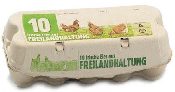 Eierverpackung für Hühnereier aus Freilandhaltung