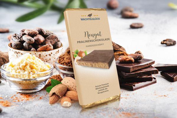 Wachtelei Schokolade Nougat Milchschokolade