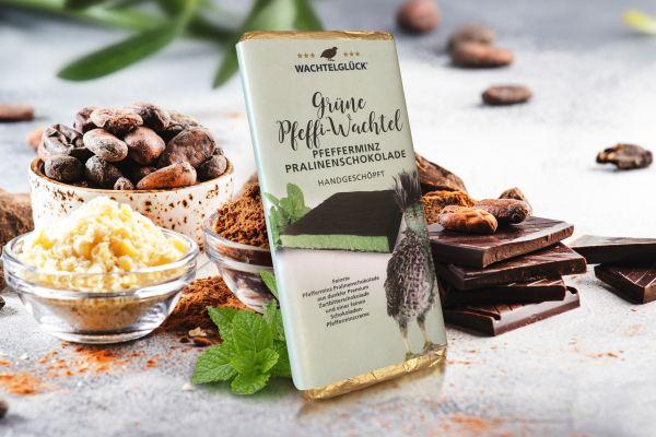 Wachtelei Schokolade Pfefferminz Wachtel Pralinen