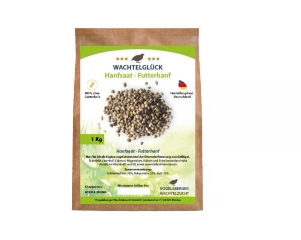 WachtelGlück® Hanfsamen - Futterhanf - 1 Kg