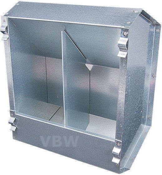 Futterautomat 2,3 Kg - 2 Fressstellen mit Deckel