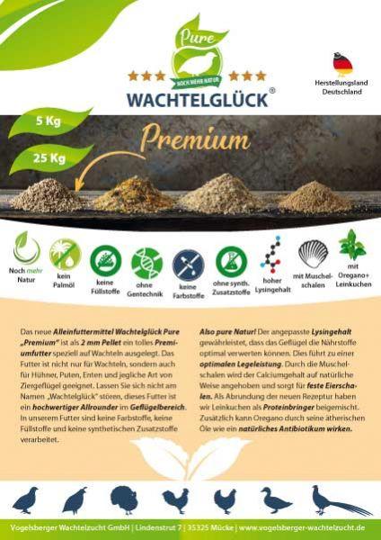 WachtelGlück PURE Premium - Wachtelfutter