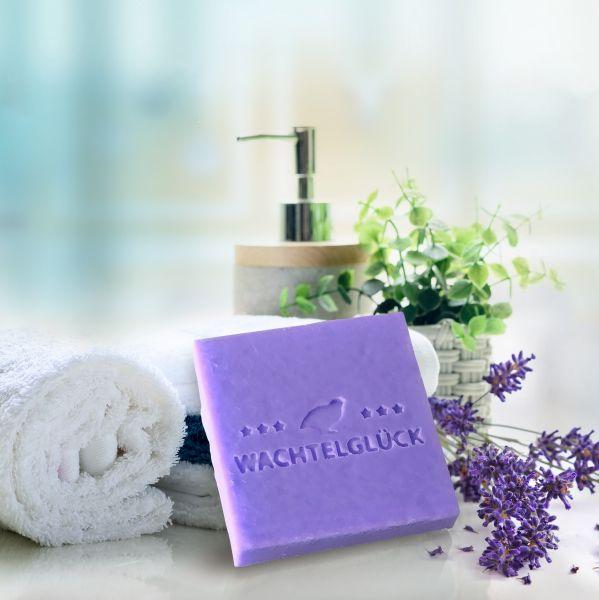 "Wachteleiseife ""Lavendel"" groß 70 x 70 mm"