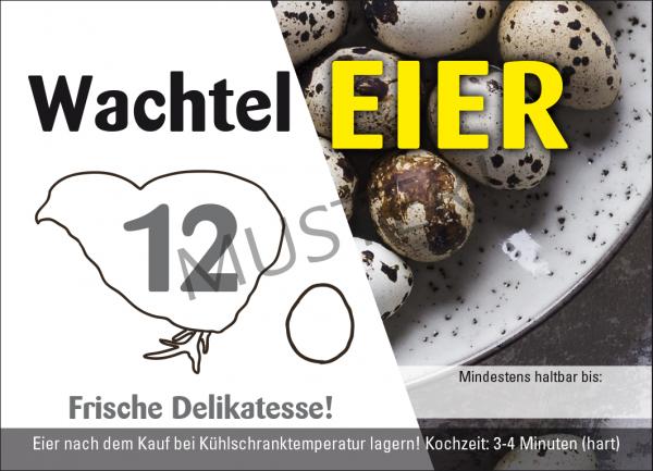 Wachteleier 12er Eierschachteln